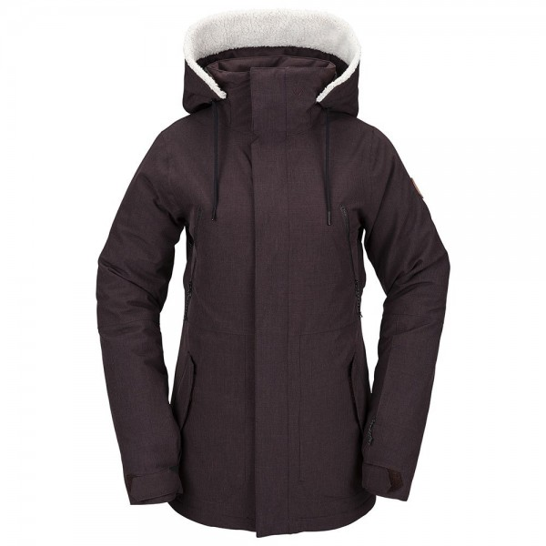 Volcom Shrine black red 2021 chaqueta de snowboard de mujer