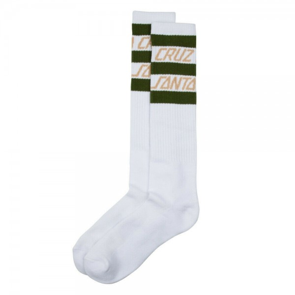 Santa Cruz Strip Stripe white calcetines