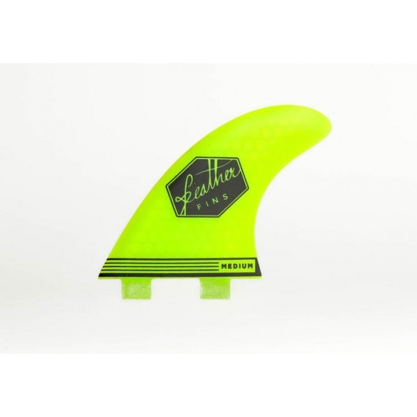 Feather Fins Ultralight Dual Tab yellow Quillas Surf